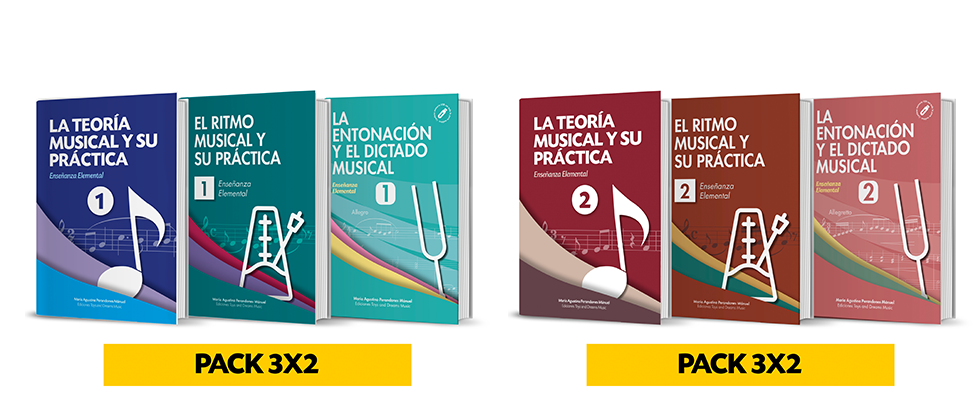 PACK COMPLETO POR ÁREAS DE LENGUAJE MUSICAL. PARA 1º Y 2º NIVEL DE ENSEÑANZA ELEMENTAL